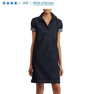 LAUREN Ralph Lauren Denim Shift Dress XS